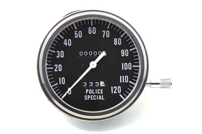 V-Twin 39-0932 - Police Special Speedometer with 2:1 Ratio