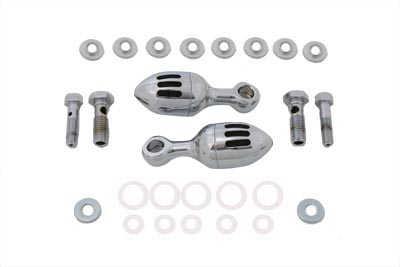 V-Twin 40-0346 - Chrome Acorn Billet Canister Set