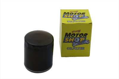 V-Twin 40-0723 - Black Stock Spin On Oil Filter