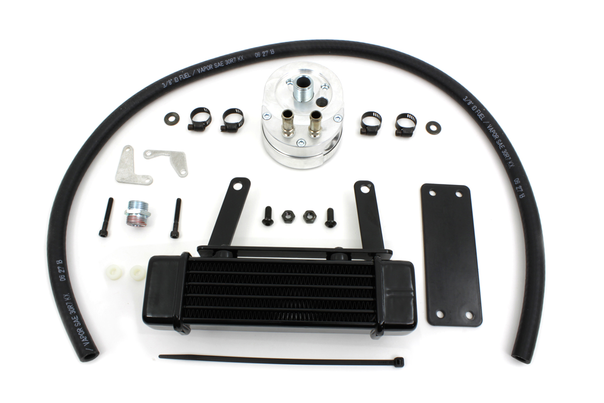 V-Twin 40-1501 - Jagg Oil Cooler Kit with Adapter