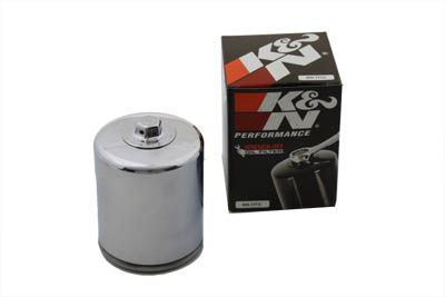 V-Twin 40-1732 - K&N Spin On Hex Oil Filter Chrome