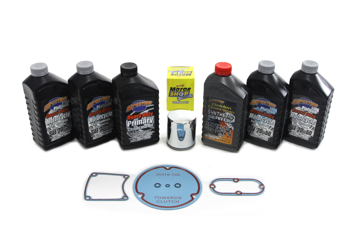 V-Twin 41-0053 - Evolution Complete Oil Change Kit