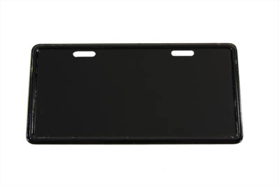 V-Twin 42-0019 - License Plate Frame Bracket Curved Style Black