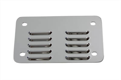 V-Twin 42-0031 - License Plate Backing Plate Louvered Style Chro