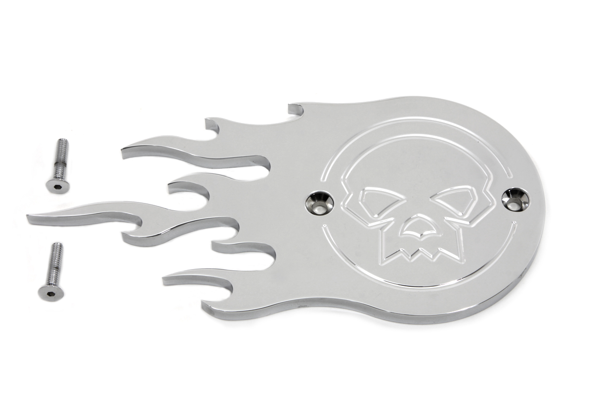 V-Twin 42-0065 - Chrome Flame Style Point Cover