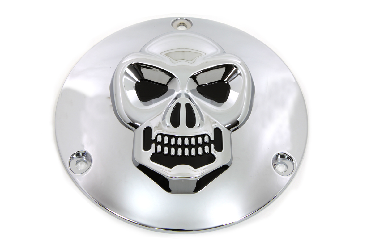 V-Twin 42-0091 - Skull Derby Cover Chrome