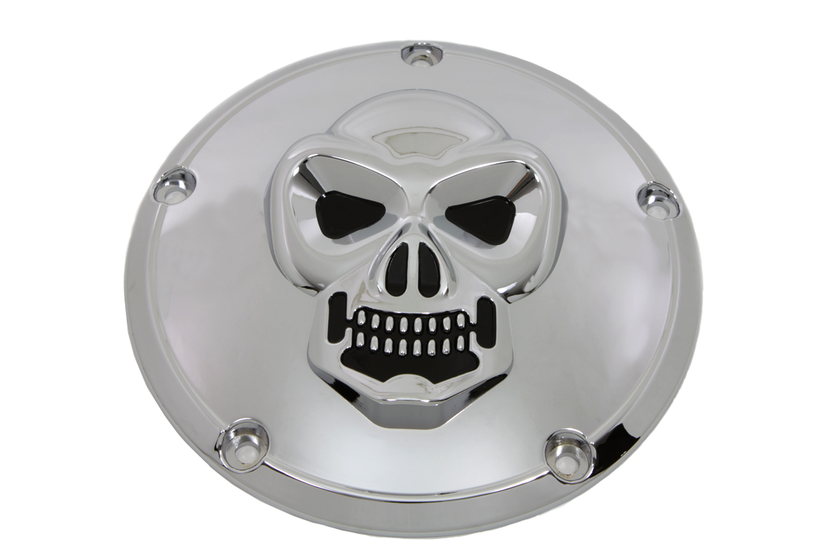 V-Twin 42-0092 - Skull Derby Cover Chrome