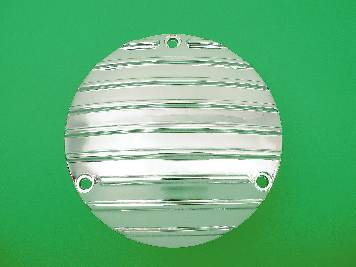 V-Twin 42-0102 - Finned Derby Cover Polished