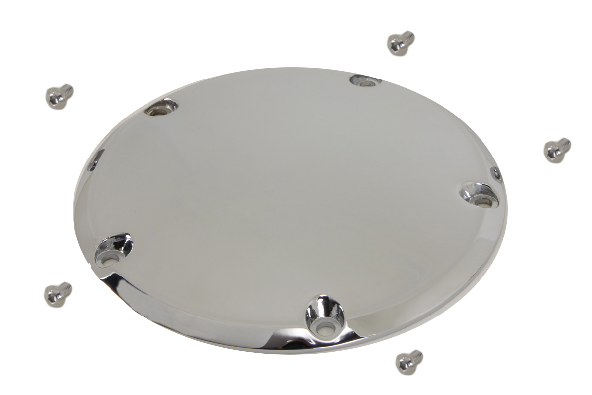 V-Twin 42-0129 - 5-Hole Derby Cover Chrome