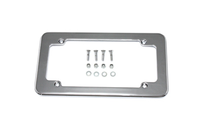 V-Twin 42-0153 - License Plate Frame Chrome