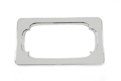 V-Twin 42-0164 - License Plate Frame Thorn Style Chrome Billet