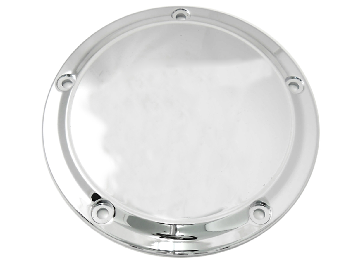SMOOTH DERBY COVER, 5 HOLE, CHROME VTWIN 42-0190