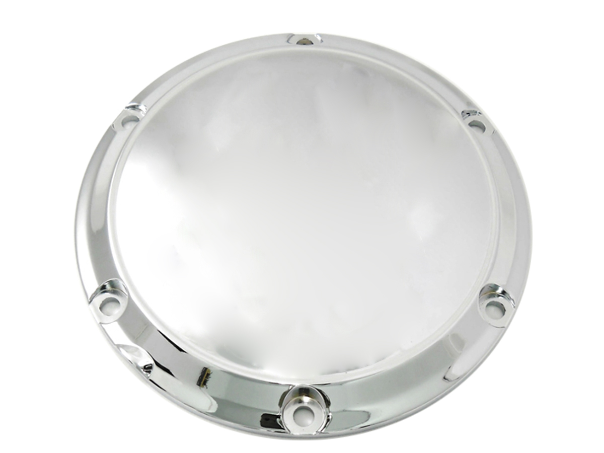 SMOOTH DERBY COVER, 6 HOLE, CHROME VTWIN 42-0192
