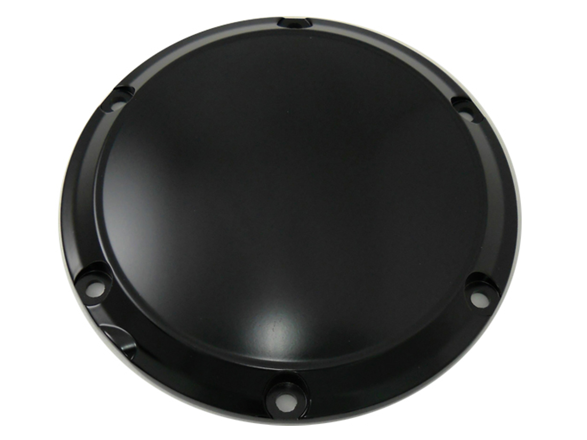 SMOOTH DERBY COVER, 6 HOLE, BLACK VTWIN 42-0193