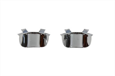V-Twin 42-0204 - Chrome Bar Bullet Visor