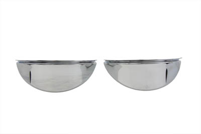 "V-Twin 42-0208 - Chrome 4-1/2"" Deco Spotlamp Visor Set"