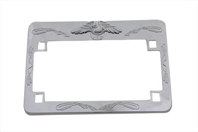 V-Twin 42-0211 - License Plate Frame Chrome Eagle Design