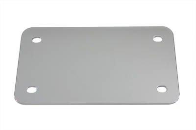 V-Twin 42-0213 - License Plate Frame Backing Plate Chrome Smooth