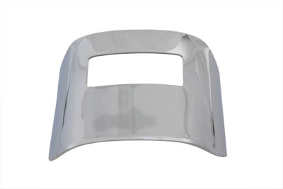 V-Twin 42-0216 - Chrome Tail Lamp Visor Smooth