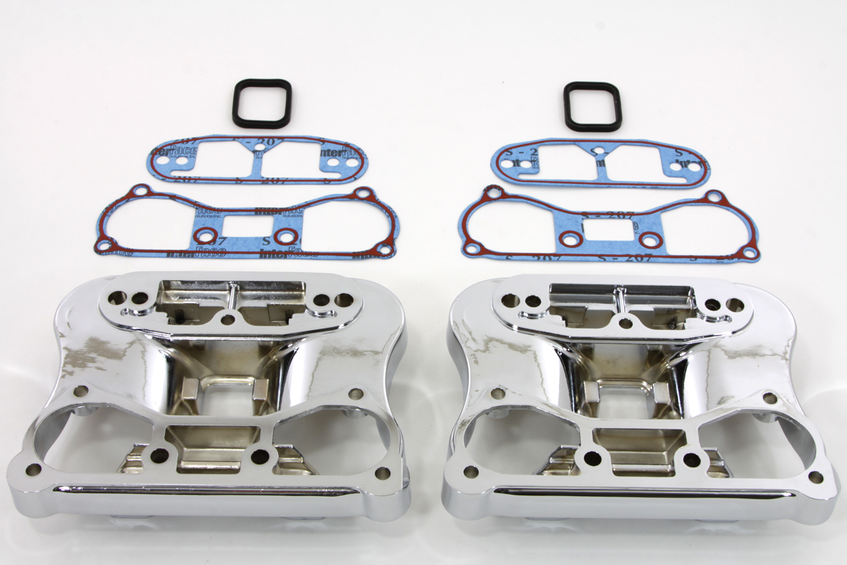 V-Twin 42-0220 - Lower Rocker Box and Gasket Set Chrome