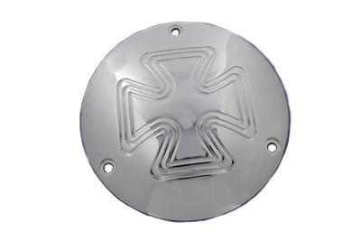 V-Twin 42-0579 - Cross Type Derby Cover Chrome