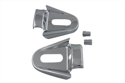 V-Twin 42-0676 - Rear Frame Cover Set Chrome
