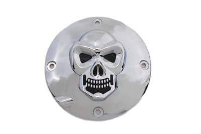 V-Twin 42-0678 - Skull Clutch Inspection Cover Chrome