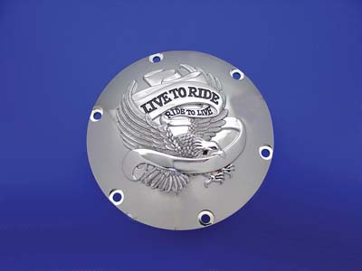 V-Twin 42-0728 - Eagle Spirit Derby Cover Chrome