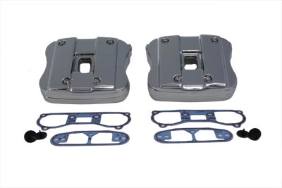 V-Twin 42-0792 - Rocker Box Cover Set Chrome