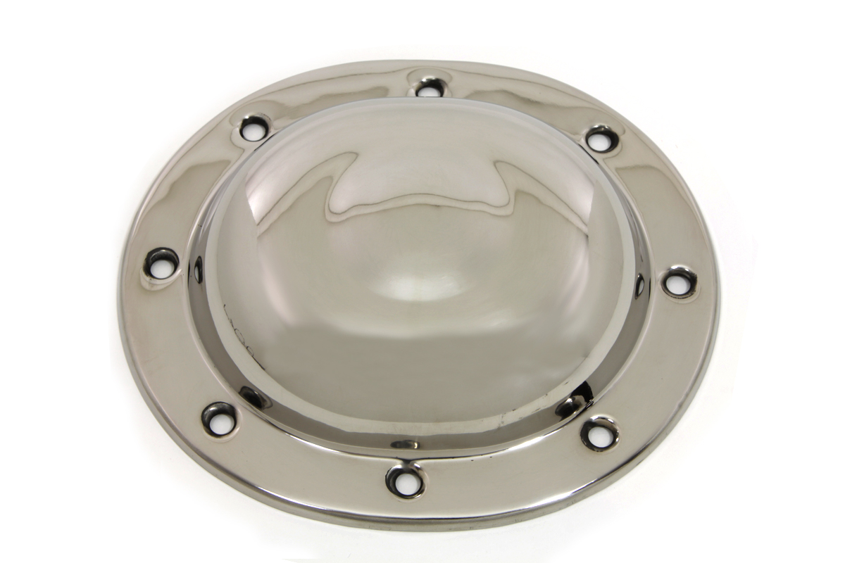 V-Twin 42-0875 - Replica Dimple Derby Cover Stainless Steel