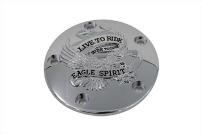 V-Twin 42-0889 - Live to Ride Ignition System Cover 5-Hole Chrom