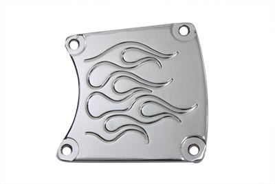 V-Twin 42-0944 - Flame Inspection Cover Chrome