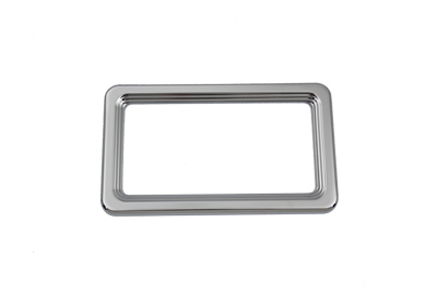 V-Twin 42-0949 - License Plate Frame Chrome Billet