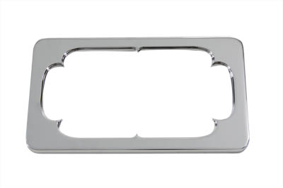V-Twin 42-0997 - License Plate Frame Thorn Style Chrome Billet