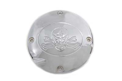 V-Twin 42-1018 - Skull Clutch Inspection Cover Chrome