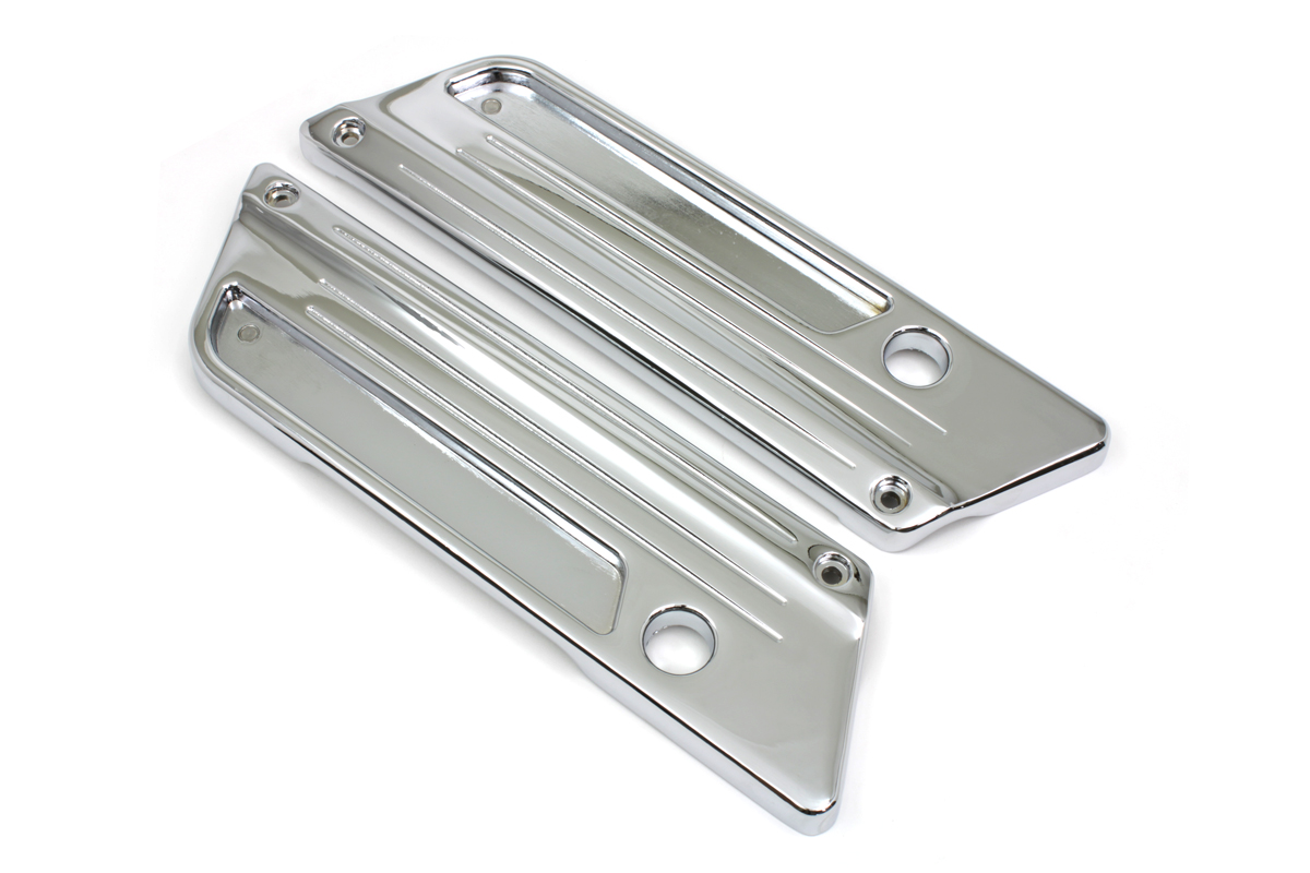 V-Twin 42-1064 - Chrome Saddlebag Latch Face Plate Set
