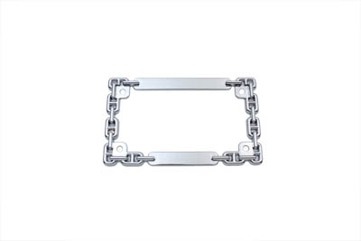 V-Twin 42-1071 - License Plate Frame Chain Style Chrome