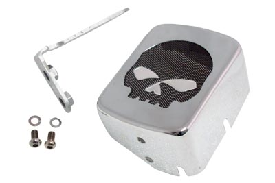 V-Twin 42-1076 - Chrome Coil Cover with Skull