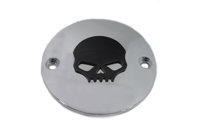 V-Twin 42-1078 - Skull Ignition System Cover Chrome