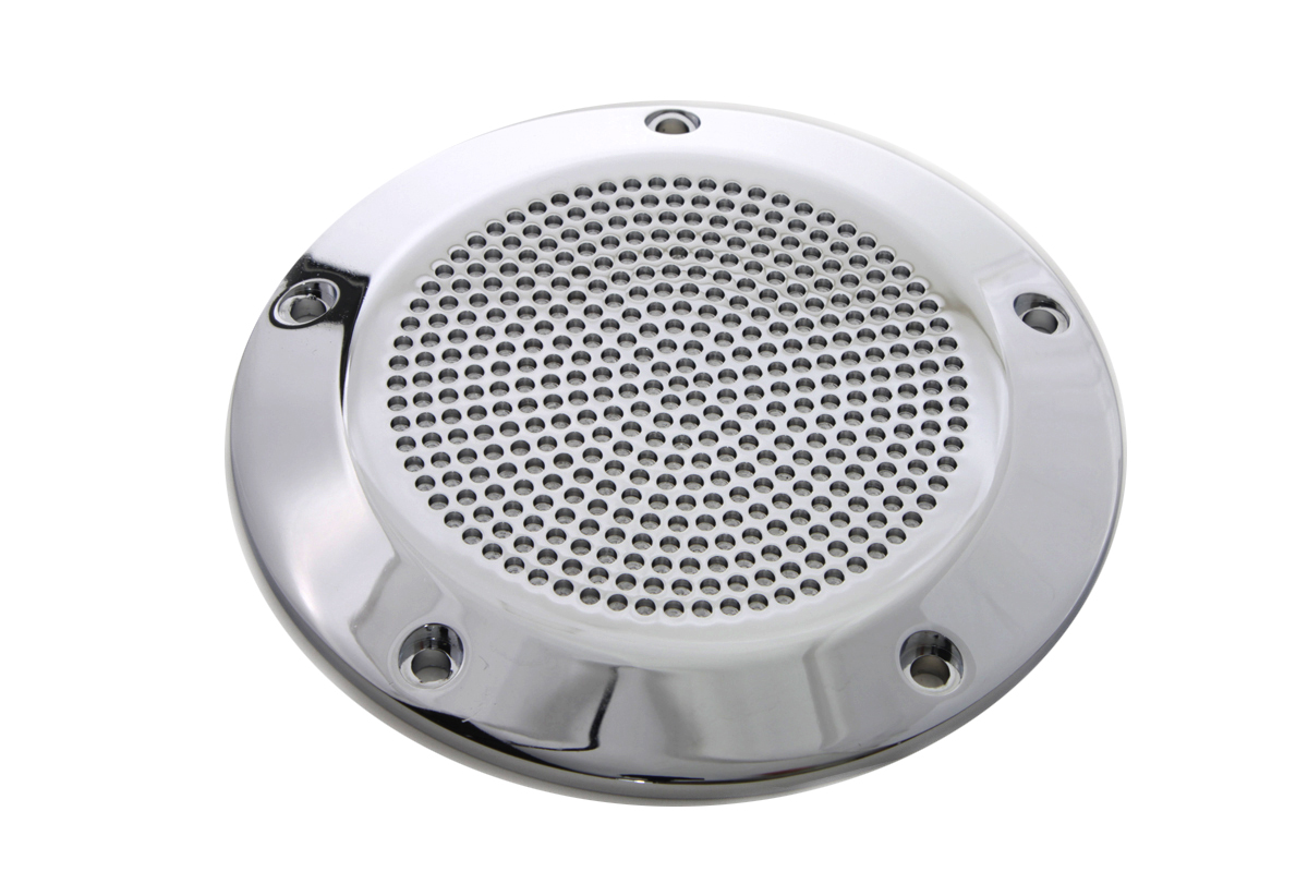 V-Twin 42-1089 - Chrome Perforated 5-Hole Derby Cover