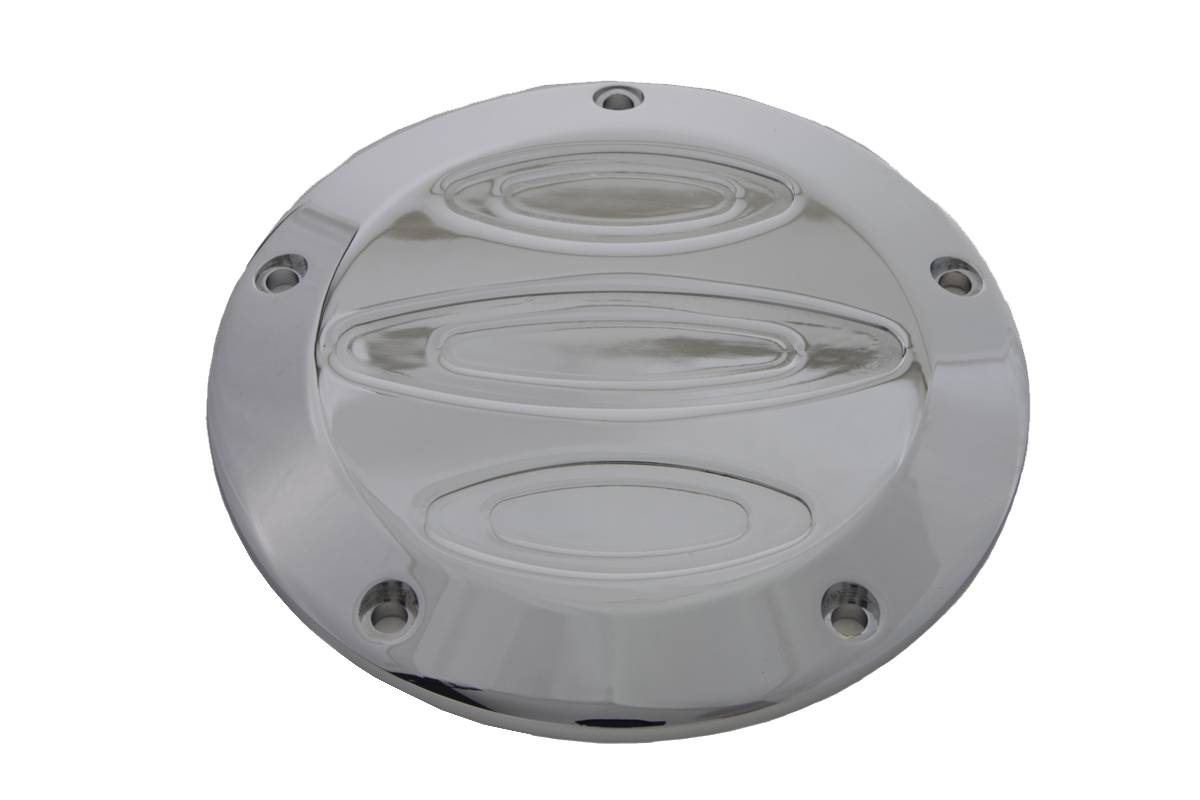 V-Twin 42-1091 - Chrome Contour 5-Hole Derby Cover