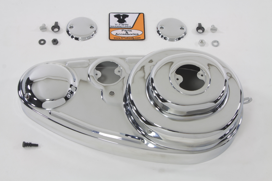 "V-Twin 42-1113 - Chrome 45"" Outer Primary Cover Kit"