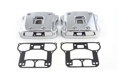V-Twin 42-5520 - Rocker Box Cover Set Chrome