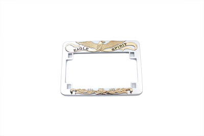 V-Twin 42-9972 - License Plate Frame Eagle Spirit Style Gold Inl