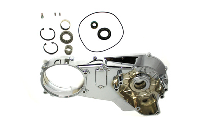 V-Twin 43-0245 - Chrome Inner Primary Cover Assembly