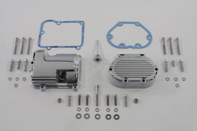 V-Twin 43-0790 - Transmission Side Cover and Top Cover Set Chrom