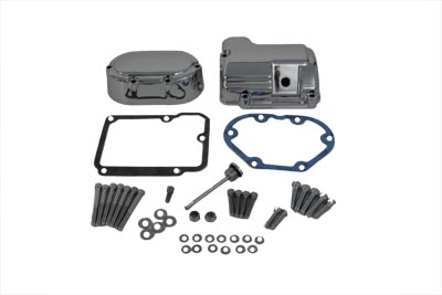 V-Twin 43-0792 - Transmission Side Cover and Top Cover Set Chrom