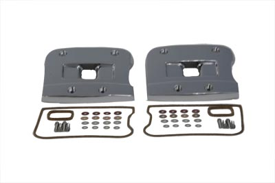 V-Twin 43-9128 - Top Rocker Box Cover Set Chrome