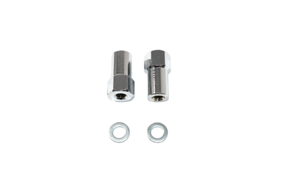 V-Twin 44-0485 - Chrome Axle Adjuster Nut Set