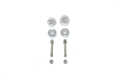 V-Twin 44-0635 - Chrome Rear Axle Adjuster and Nut Kit